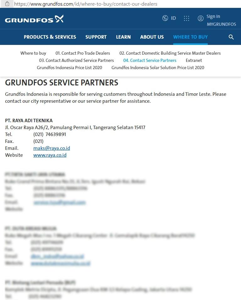 Service Center Grundfos